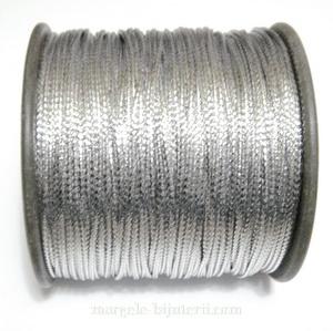 Fir lurex argintiu, rotund, 1mm 1 m