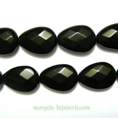 Onix plat, multifete, lacrima 18x14x6mm 1 buc