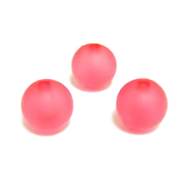 Margele acrilice, frosted, rosii, 10mm 1 buc