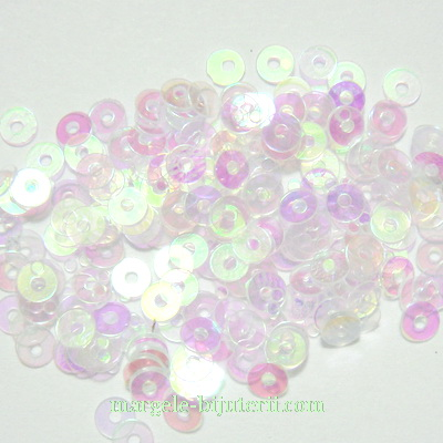 Paiete albe, semitransparente, AB, 3mm- 3 grame (1000-1100 buc) 3 g
