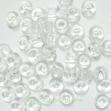 Margele nisip, Rocaille Preciosa 6/0-4mm, transparente 20 g