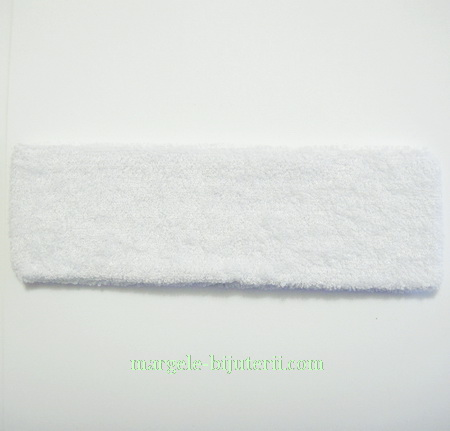 Cordeluta elastica alba, 18x5.5cm 1 buc