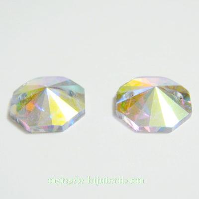 Aplice sticla pentru cusut, octagonale, AB, 14x4.5mm 1 buc