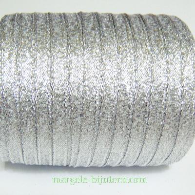 Panglica lurex, argintie, 6mm 1 m