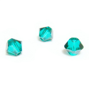 Swarovski Elements, Bicone 5328-Emerald, 4mm 1 buc