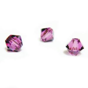 Swarovski Elements, Bicone 5328-Amethyst, 4mm 1 buc