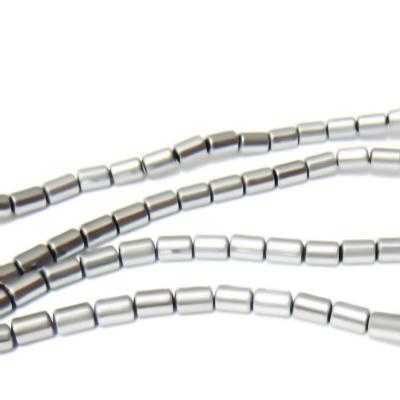 Hematite nemagnetice, argintii, placate, tub 5x3.2mm 1 buc