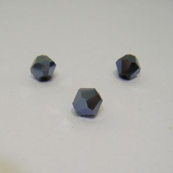 Cristal biconic fatelat negru 6mm 1 buc