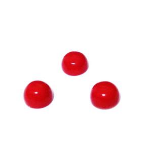 Cabochon coral sintetic rosu, 6x3.~3.5mm 1 buc