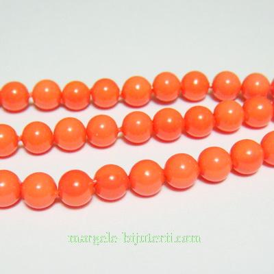 Perle stil Mallorca, portocalii, 5.5mm 1 buc