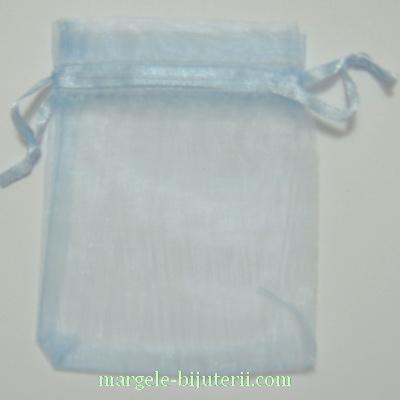 Saculeti organza, albastru deschis, 8X6.5cm 1 buc