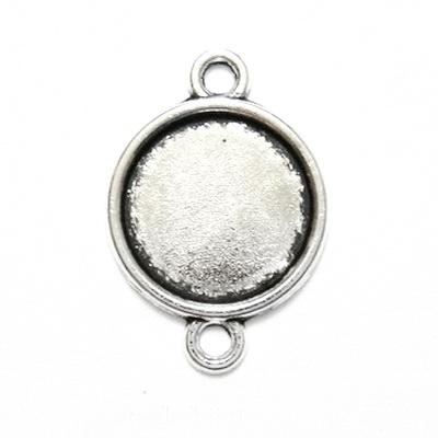 Conector / link cabochon, argint tibetan, interior 16mm 1 buc