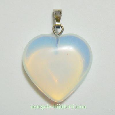 Pandantiv opal, inima 20x20x6mm 1 buc