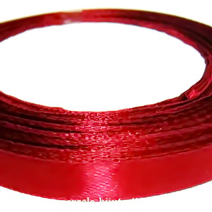 Saten bordo, 10 mm 1 rola 22 m