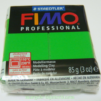 Plastelina fimo profesional 85g cod cul. 5 verde 1 buc