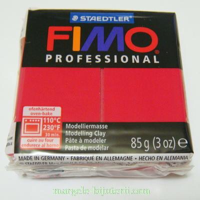 Plastelina fimo profesional 85g cod cul. 29 rosu carmin 1 buc