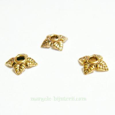 Capacel auriu cu 4 frunzulite, 6x2mm 1 buc